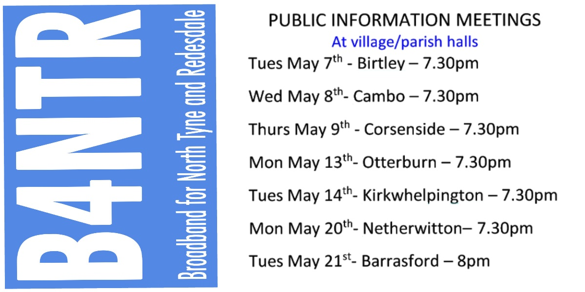 The B4NTR Village Hall Tour in May!