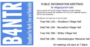Upcoming Villiage Hall Update Meetings!!!